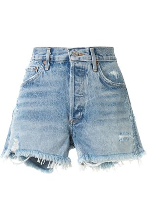 AGOLDE Swap Meet distressed shorts
