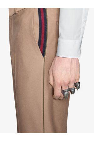 Gucci 60s' Hose mit Webstreifen - Nude