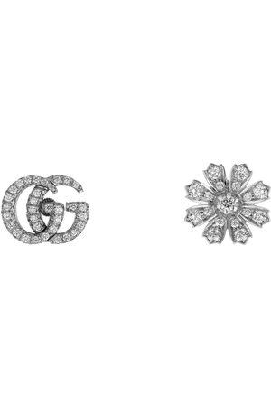 Gucci Uhren - Flora Ohrringe 18 Karat mit Diamanten