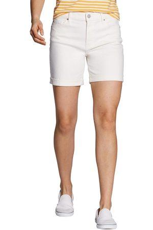Eddie Bauer Boyfriend Jeans-Shorts Damen Natur Gr. 16