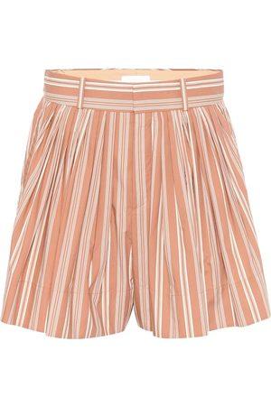 Chloé Gestreifte Shorts aus Baumwolle