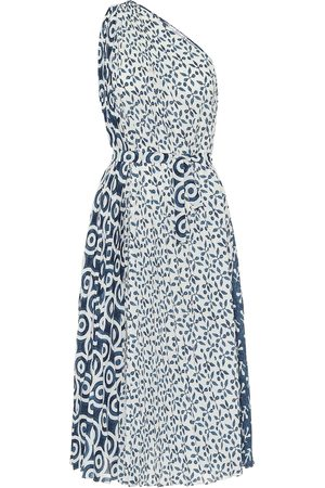 Oscar de la Renta Bedrucktes One-Shoulder-Kleid