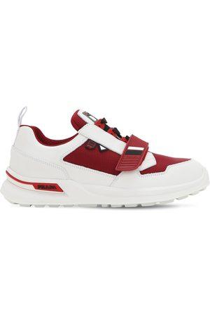 """Prada Sneakers Aus Leder Und Stoff """"work"""""""