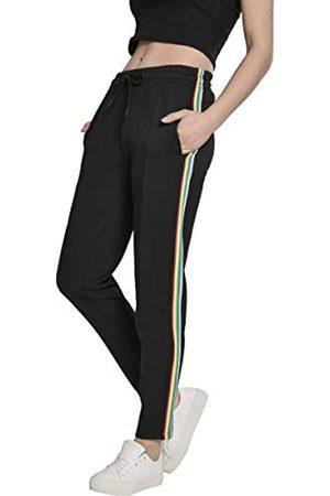 Urban classics Urban Classics Damen Shorts Ladies Multicolor Side Taped Track Pants Shorts, Schwarz