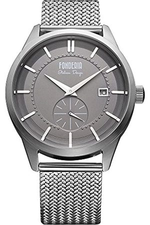 Fonderia Fonderia Herren Analog Quarz Smart Watch Armbanduhr mit Edelstahl Armband