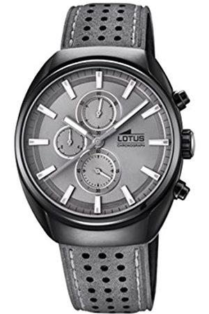 Lotus Watches Lotus Watches Herren Chronograph Quarz Uhr mit Leder Armband 18567/3