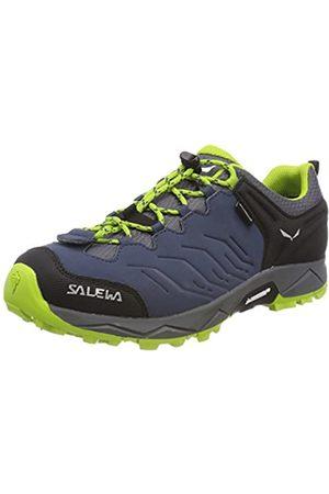 Salewa Salewa Jungen JR Mtn Trainer WP Trekking & Wanderhalbschuhe, Blau (Dark Denim/Cactus 0361)