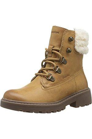 Geox Geox Mädchen J CASEY GIRL H Combat Boots, Beige (Biscuit C5046)