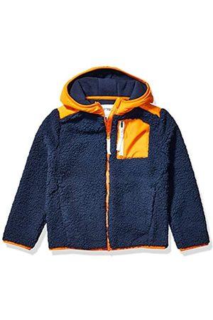 Spotted Zebra Spotted Zebra Hooded Sherpa fleece-outerwear-jackets, Maringeblau/Orange
