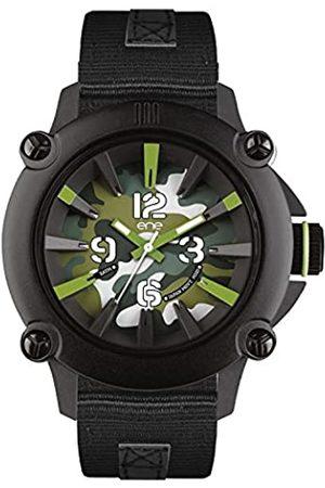 Eñe ENe Herren Analog Quarz Uhr mit Gummi Armband 640000108