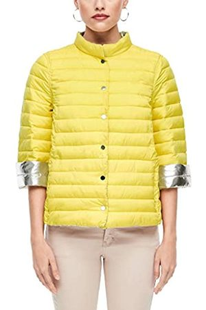 s.Oliver S.Oliver BLACK LABEL Damen Wendejacke im Light Down-Look yellow/silver 42