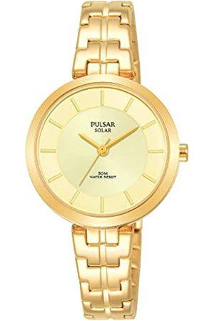 Pulsar Damen Uhren - Solar Damen-Uhr Edelstahl mit Metallband PY5062X1