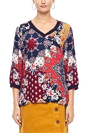 s.Oliver S.Oliver RED LABEL Damen Blusenshirt im Fabric-Mix marine AOP 42