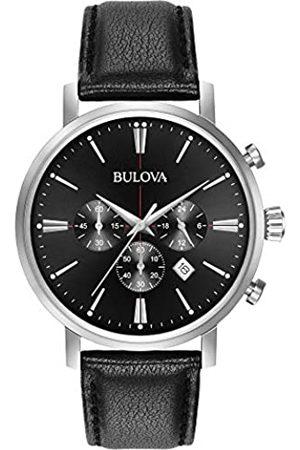 BULOVA Bulova Classic Aerojet 96B262 - Herren Designer-Armbanduhr - Chronograph mit Armband aus Leder