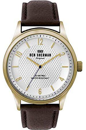 Ben Sherman Ben Sherman Herren Analog Quarz Uhr mit Leder Armband WB025TG