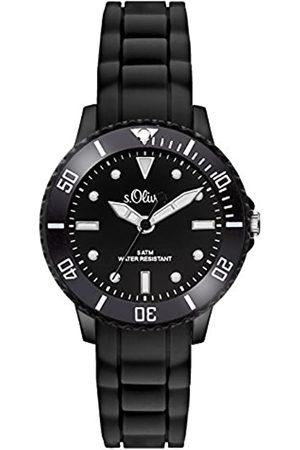 s.Oliver S.Oliver Time Unisex Quarz Uhr mit Silikon Armband