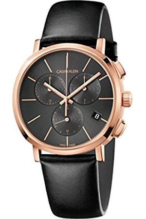 Calvin Klein Calvin Klein Herren Chronograph Quarz Uhr mit Leder Armband K8Q376C3