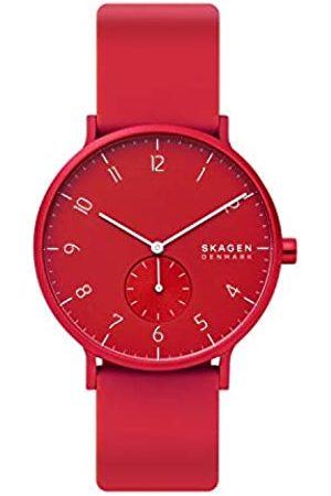 Skagen Skagen Unisex Erwachsene Analog Quarz Uhr mit Silikon Armband SKW6512