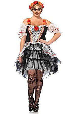 Leg Avenue 85557X - Sugar Skull Kostüm-Set, Damen Fasching, 1X-2X