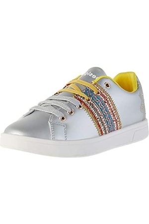 Desigual Damen Shoes Cosmic Exotic Moon Sneaker, (Silver 2004)