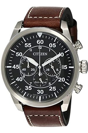 Citizen Citizen Herren Chronograph Quarz Uhr mit Leder Armband CA4210-16E