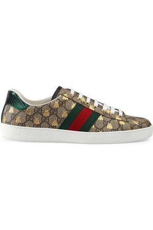 Gucci Ace Herren-Sneaker aus GG Supreme mit Bienen