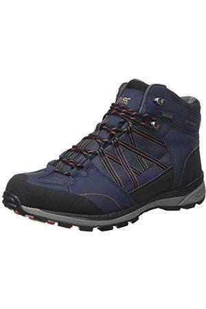 Regatta Regatta Herren Samaris Ii Mid' Waterproof Walking Boots Trekking- & Wanderstiefel, Blau (Navy/Burnt Salmon F96)