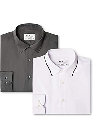 FIND Find. Herren Businesshemd 2 Pack Slim Shirt, 44 cm