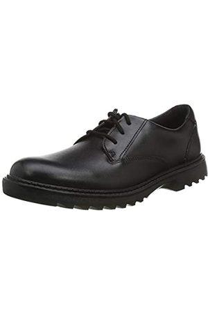 Clarks Clarks Jungen Asher Jazz Y Derbys, Schwarz (Black Leather Black Leather)