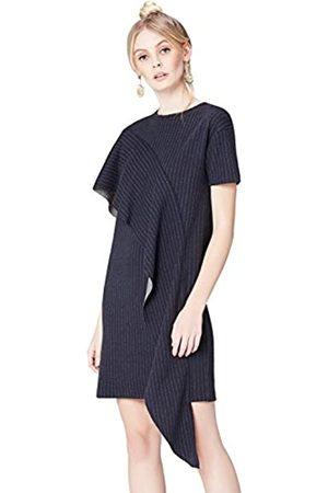 FIND Amazon-Marke: find. Kleid Damen mit kurzen Ärmeln Rundhalsausschnitt, 44