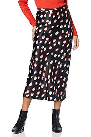 FIND Amazon-Marke: find. Damen Midi A-Linien-Kleid aus Satin, 38