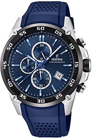 Festina Festina Unisex Erwachsene Chronograph Quarz Uhr mit Leder Armband F20330/2