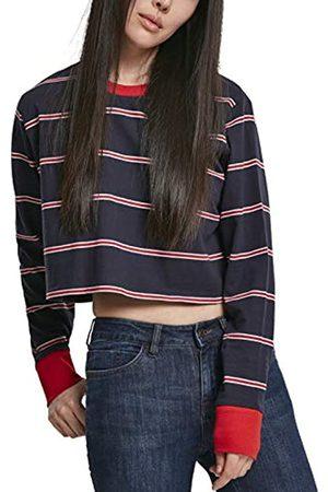 Urban classics Urban Classics Damen Ladies Short Yarn Dyed Skate Stripe LS Langarmshirt