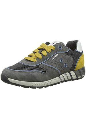 Geox Geox Jungen J ALBEN Boy B Sneaker, Grau (Grey/Dk Yellow C1717)