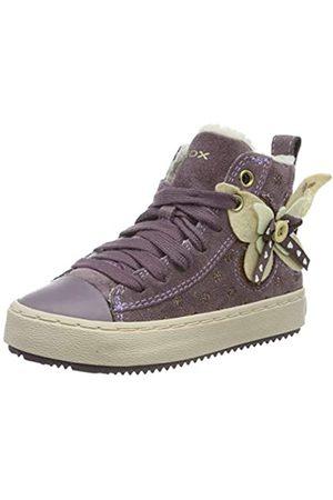 Geox Geox Mädchen J Kalispera Girl A Hohe Sneaker, Pink (Lt Prune C8023)