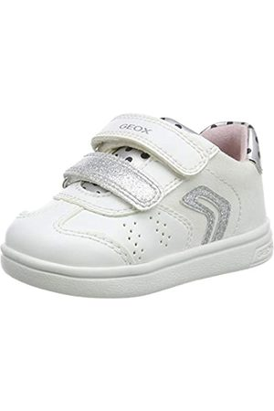 Geox Geox Baby Mädchen B DJROCK Girl A Sneaker, Weiß (White/Silver C0007)