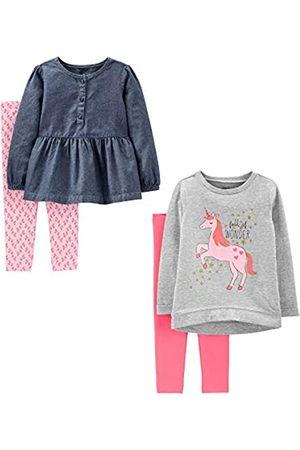 Simple Joys by Carter's Simple Joys by Carter's Baby & Kleinkind Mädchen 4-teiliges Langarmshirt & Hosen Playwear Set
