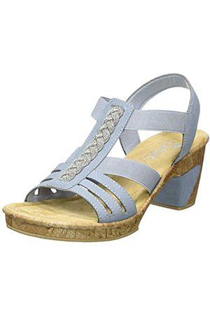 Rieker Damen FrühjahrSommer Geschlossene Sandalen, Blau (Azur 14)
