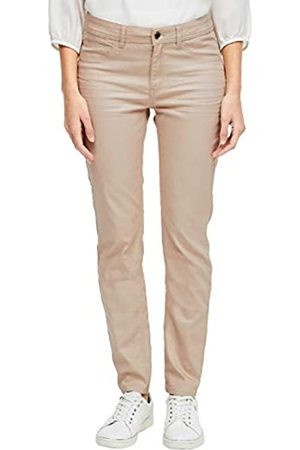 s.Oliver S.Oliver BLACK LABEL Damen Sienne Slim: Stretchhose mit Coating beige 38.SHORT