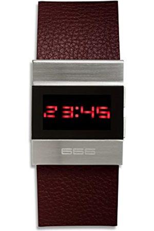 666Barcelona 666Barcelona Unisex Erwachsene Digital Uhr mit Leder Armband 666-141