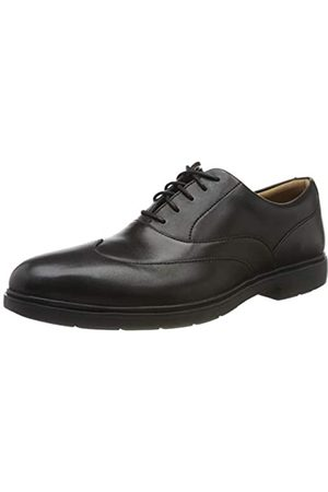 Clarks Clarks Herren Un Tailor Wing Derbys, Schwarz (Black Leather Black Leather)