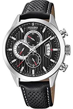 Festina Festina Herren Chronograph Quarz Uhr mit Leder Armband F20271/6