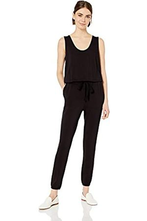 Daily Ritual Amazon-Marke: Damen superweicher Overall aus Frottee, ärmellos, Black