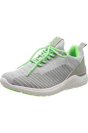 TOM TAILOR TOM TAILOR Herren 8082009 Sneaker, Mehrfarbig (Ltgrey-Neon Green 02650)