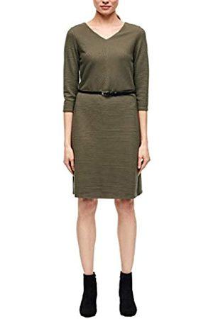 s.Oliver S.Oliver BLACK LABEL Damen Kleid mit Strukturmuster dark olive 46