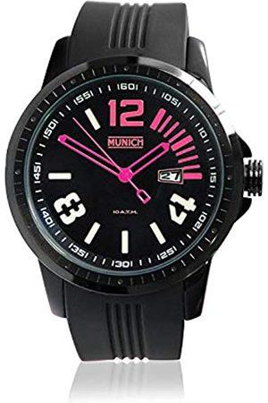 Munich Munich Unisex Erwachsene Analog Quarz Uhr mit Silikon Armband MU+103.4A