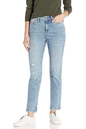 Daily Ritual Daily Ritual High-Rise Slim Straight Jeans 28