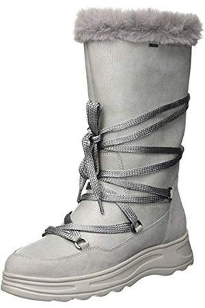 Geox Damen D HOSMOS B ABX B Schneestiefel, (Silver/Lt Grey C0898)
