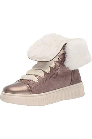 Geox Geox Mädchen J DISCOMIX Girl B Hohe Sneaker, Beige (Dk Beige C5005)