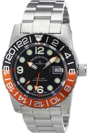 Zeno Zeno Watch Basel Herren-Armbanduhr XL Quarz Analog Edelstahl 6349Q-GMT-a1-5M